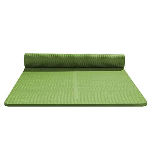 zlw-shop Esterilla Yoga Gruesa Antideslizante Yoga Mat Práctica de Yoga for Principiantes Alfombra de su casa Estera del Piso de Cubierta Plana Soporte Colchoneta de Ejercicio Colchoneta de Yoga