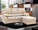 Muebles Baratos Sofa chaiselongue Tres plazas, Color Beige, Antimanchas, ref-01