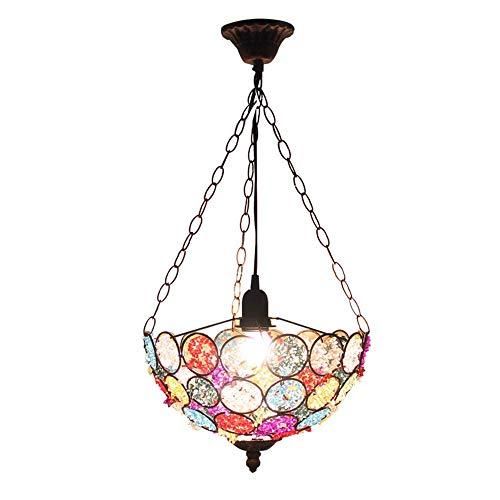 Casual Luz Pendiente Retro Hierro Forjado Creativo de la lámpara de Bolas de Colores Hecha a Mano Lampshaes Loft Bar Mesa de la Sala Colgante Occidental de la lámpara, E14 HAODAMAI
