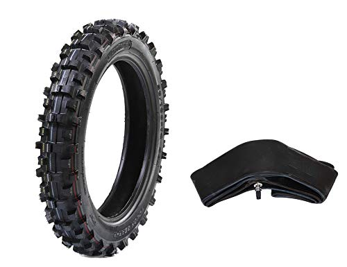 "Protrax PT1058 Rear Tire For Tough Roads - Off-Road Motocross/Dirt Bike - Tire & Tube 3.60-4.10 X 14"" Combos - High Traction - Motorcycle Accessories/Parts- Soft Intermediate Terrain"