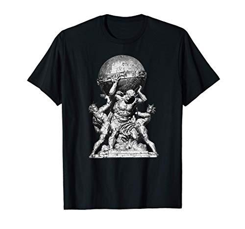 Atlas Greek Mythology Illustration Greece Greek Gods T-Shirt