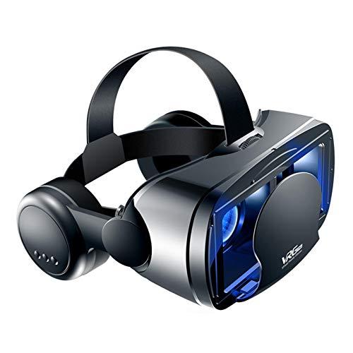 Auriculares VR, Compatibles con 5-7 Pulgadas para IOS y para Teléfonos Android, Auriculares de Realidad Virtual 3D, Gafas de Realidad Virtual, Reproduce tus mejores juegos móviles, 360 películas
