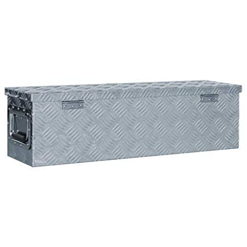 vidaXL Aluminiumkiste 80,5x22x22cm Alu Box Koffer Werkzeugbox Transportkiste - 3
