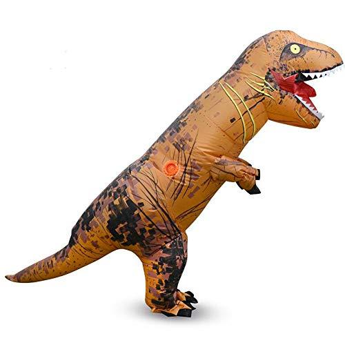 AmaMary T-Rex Costume Disfraz de Dinosaurio Inflable para Niños (marrón)