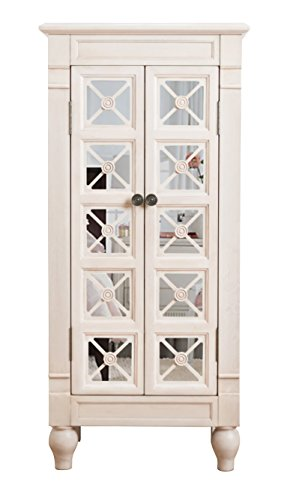 Hives and Honey 9006-363 Cadence Standing Jewelry Armoire, White