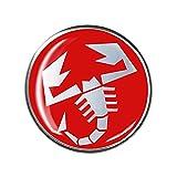 Abarth 21546 Adesivi Sticker 3D Scorpione, Rosso, Diam. 44 mm
