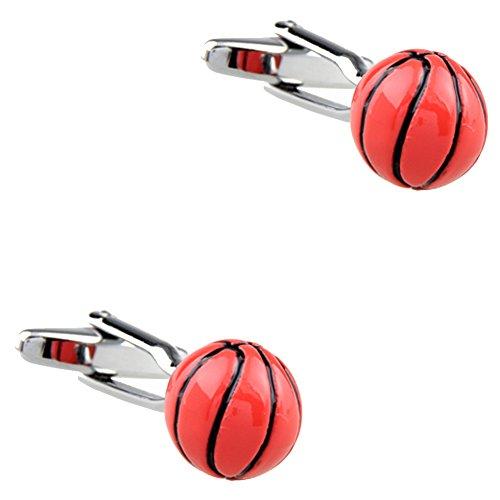CIFIDET 3D Basketball Manschettenknöpfe Mode Herren Hemd Manschettenknöpfe mit Geschenkbox