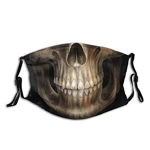 Horror Skull Mouth Face Neck Gaiter Scarf Custom Washable Half Buff Face Mask Funny Cute Balaclava