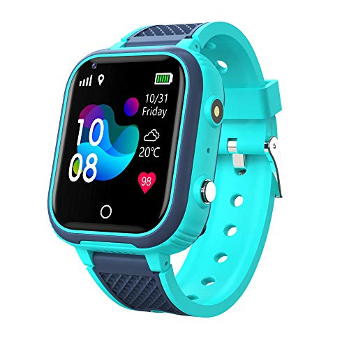 LT21 Smart Watch für Kinder, Kinder Smartwatch mit GPS, 4G Videoanruf Monitor Tracker Standort Telefon, IP67 wasserdichter Touchscreen WiFi Bluetooth Armbanduhr für Studenten