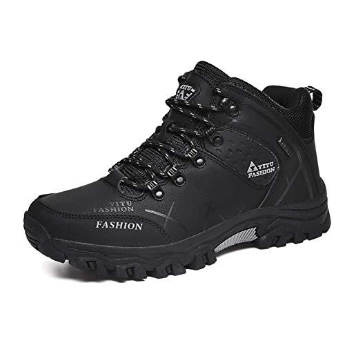 Shoe - Zapatillas de senderismo para exteriores, ligeras, impermeables, transpirables, antideslizantes, estilo informal, para correr, color negro, talla 42