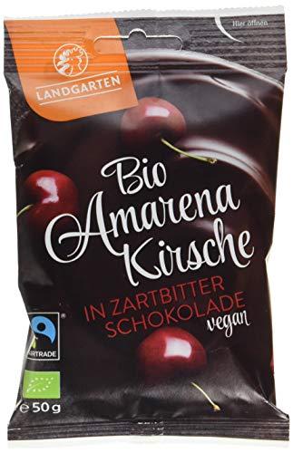 Landgarten Bio Amarenakirsche in Zartbitter-Schokolade, 50 g 1 x 50 gr