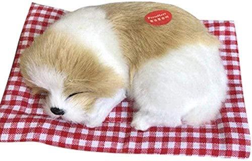 NC87 Lindo Perro de Peluche Suave Animal Juguete muñeca Mini simulación paño Almohadilla ing Piel elástica PP algodón Comodidad Alivio del estrés