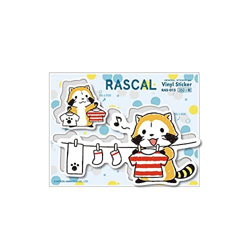 ラスカル ステッカー 洗濯 ランドリーシリーズ キャラクターステッカー あらいぐま アニメ 人気 かわいい RAS015 gs 公式グッズ