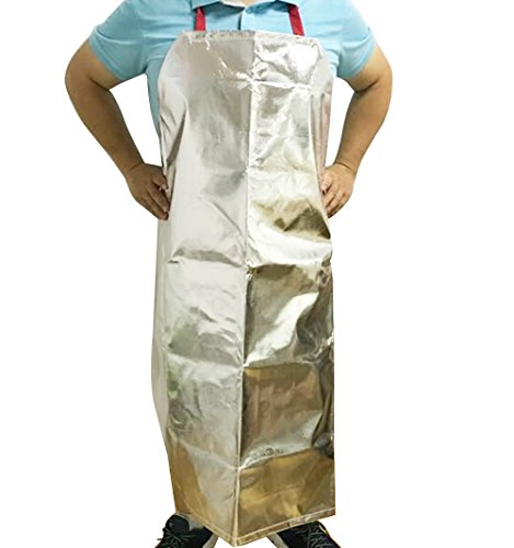 Aluminized Flame Resistant Apron Safety Work Heat Resistant Industrial Welding Apron Cooking BBQ Apron