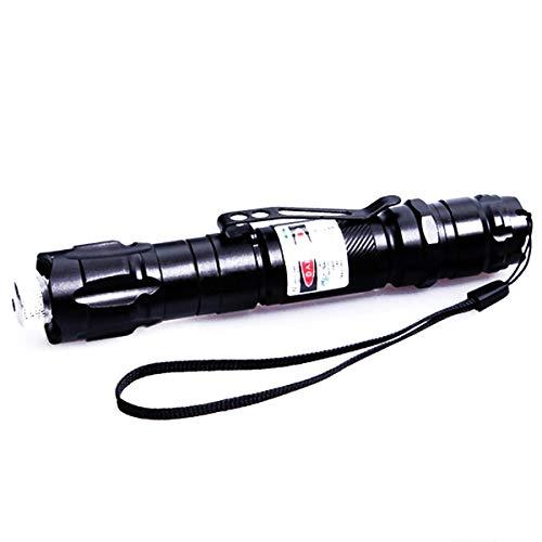 Potente penna puntatore verde luce militare messa a fuoco regolabile torcia elettrica presentatore + caricabatteria 18650