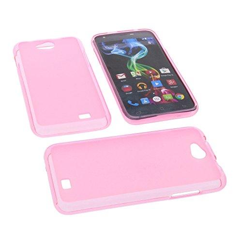 foto-kontor Tasche für Archos 50c Platinum Gummi TPU Schutz Hülle Handytasche pink