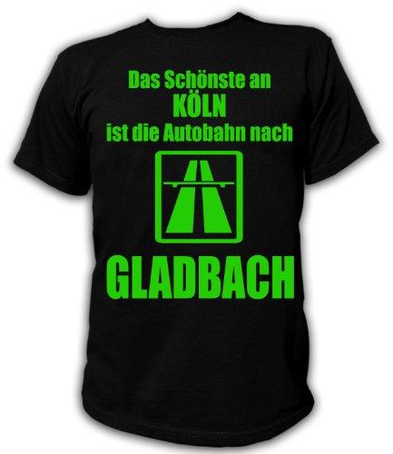 Artdiktat T-Shirt Anti Köln T-Shirt Unisex, Größe L, schwarz