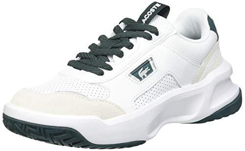 Lacoste Ace Lift 0120 2 SFA, Zapatillas Mujer, Wht/Dk Grn, 38 EU