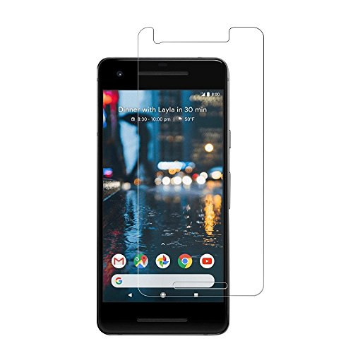 XKAUDIE QHI002 Google Pixel 2 Screen Protector, [2-Pack] Premium Tempered Glass Screen Protector Anti-Scratch Clear High Definition Bubble Free Screen Film for Google Pixel 2 (Clear).
