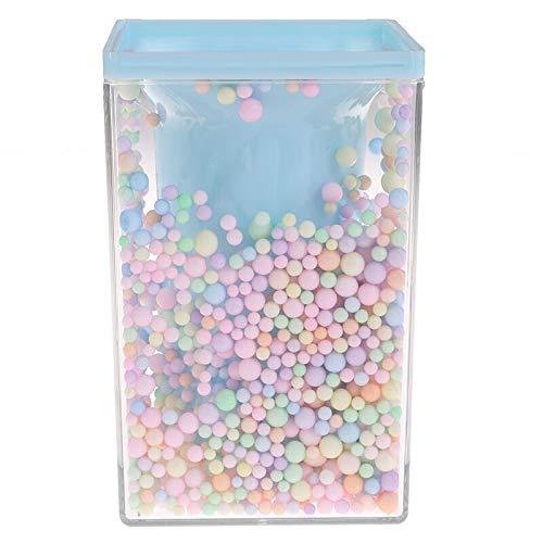 Stationery Creative - Estuche para lápices de gran capacidad, diseño de forma cuadrada, color rosa transparente