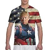 HOCLOCE Trump Men's T Shirts 3D Printed Top Tees L
