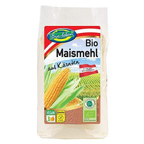 Bio-leben österreichisches Bio Maismehl glutenfrei 3 kg gentechnikfrei, 100% Mais aus Österreich, ohne Maiskeim, extra gereinigt und stechapfelfrei 6x500g