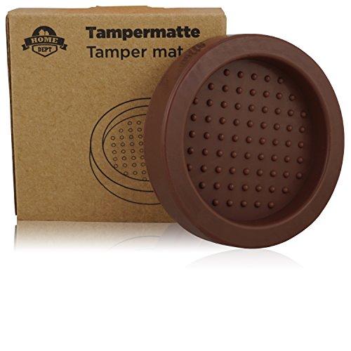 HOME DEPT Tampermatte mit Noppen, Tamperstation 51 - 58mm, runde Tamping Matte, Espresso Tamper Matte zum Zubereiten mit dem Siebträger Barista Zubehör