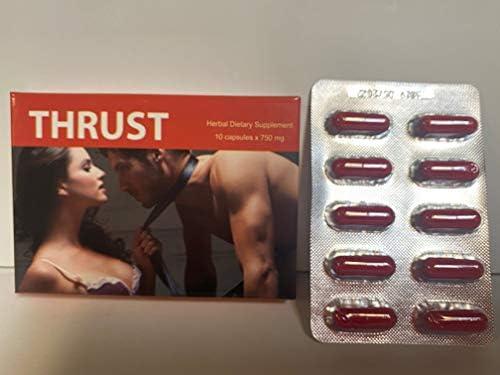 Thrust Red Premium Natural Male Performance Enhancement 10 Capsules per Pack product image
