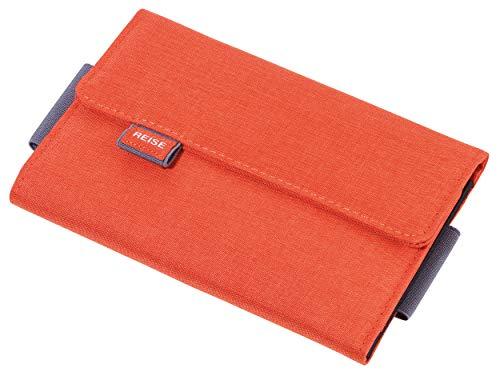 Troika Organizer-Etui für Reisedokumente mit Magnetverschluss orange