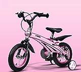 Triciclo Bebé Trolley Trike Bicicleta for niños convenientes, 3 años de hombres y mujeres bebé bebé carruaje 12/14/16 pulgadas bicicleta bicicleta de montaña niño cómodo (color: rosa, tamaño: 12 pulga