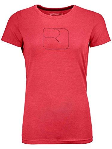 ORTOVOX Damen 185 Logo T-Shirt W Hemd, Hot Coral, M