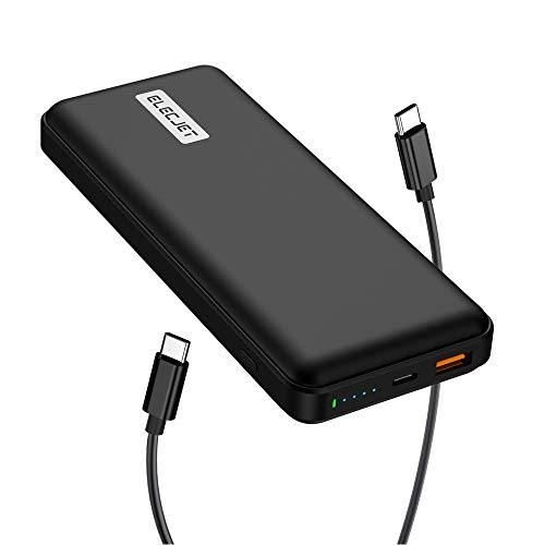 ELECJET PowerPie 20000mAh Power Bank, Support 45W Super Fast Charging, for Samsung Galaxy Note10+/S20 Ultra, USB-C PD 3.0 Portable Battery Pack, for Dell XPS, MacBook Pro/Air, iPad Pro, iPhone