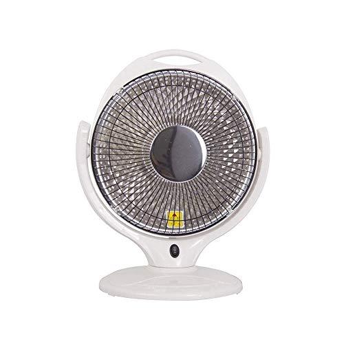 LIPENLI Calentadores eléctricos 600w Calentador de Ventilador con 2 Ajuste de la Velocidad de protección contra sobrecalentamiento Dark Light, for Sala de Estar Dormitorio Oficina -Blanco