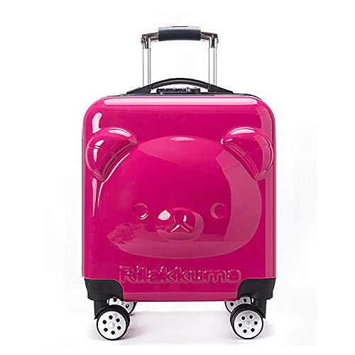MIRANDA valigia bambino trolley case bambino orso trolley valigia cartoon Boarding Case, Rosa (Rosa) - qwe85