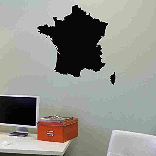 Frankrijk kaart Vinyl Muursticker Wanddecoratie voor Nursery Kledingwinkel Schoonheidssalon Slaapkamer Decoratie Muurschildering 58X59CM