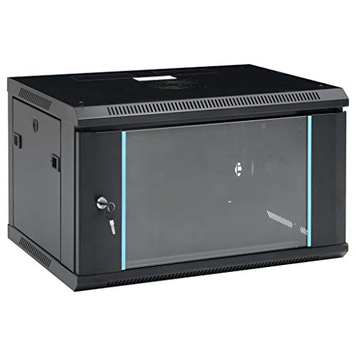 vidaXL Armario de Red de Pared Permanente Almacenaje Datos Gabinete Router Módem...