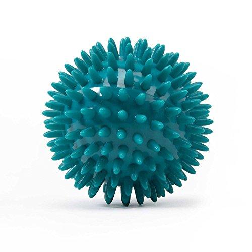 Noppenball, Igelball mit 8 cm Durchmesser (petrol) Massageball für Selbstmassage, Reha & Fitness, Reflexzonen - auch als Set verfügbar
