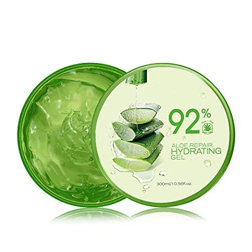Natürliche Feuchtigkeitspflege Aloe Vera Gel, 300ml Aloe Vera Gel, für trockene Haut,Sonnen...