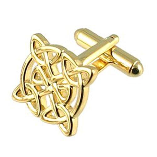 Celtic Knot Cufflinks Gold Pochette Cadeau Sélectionner