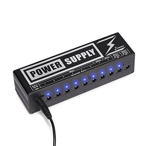 Donner DP-2 Guitar Pedal Power Supply 10 DC Output for...