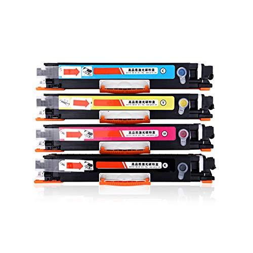 GXZC CE310A - Cartucho de tóner compatible para HP Color Laserjet CP1025 CP1025NW M175A M175NW M275MFP (negro, rojo, azul, amarillo, 4 unidades)