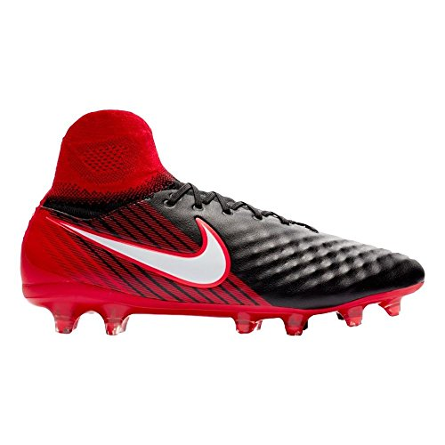 NIKE Magista Orden II Suelo Duro Adulto 45.5 Bota de fútbol - Botas de fútbol (Suelo Duro, Adulto, Masculino, Negro, Rojo, Estampado, Cuero, Sintético)