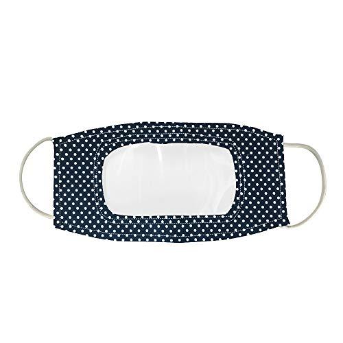 1 filtros de cara reutilizables con ventana transparente visible Reutilizables, Lavables al Aire Libre, para sordos y difíciles de oír para adultos o niños, multicolor