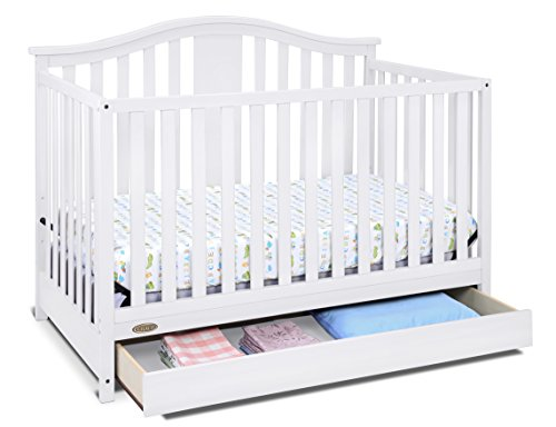 Graco Solano 4in1 Convertible Crib with Drawer White Easily Converts to Toddler Bed Day Bed or Full Bed Three Position Adjustable Height Mattress Some Assembly Required Mattress Not Included