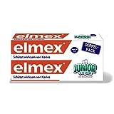 elmex JUNIOR Zahnpasta, 6-12 Jahre, Doppelpack,...