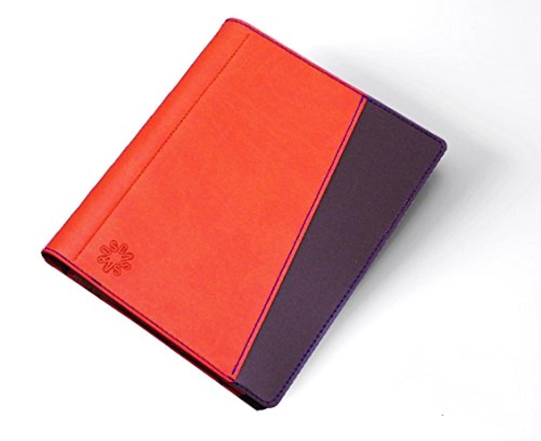 シネウィ毛皮邪魔キャサロス A5 システム手帳 ファイルノートカバーNEセットイタリアンマテリアル CASSAROS バイカラー オシャレ シンプル 贈り物 ギフト キャロットオレンジ
