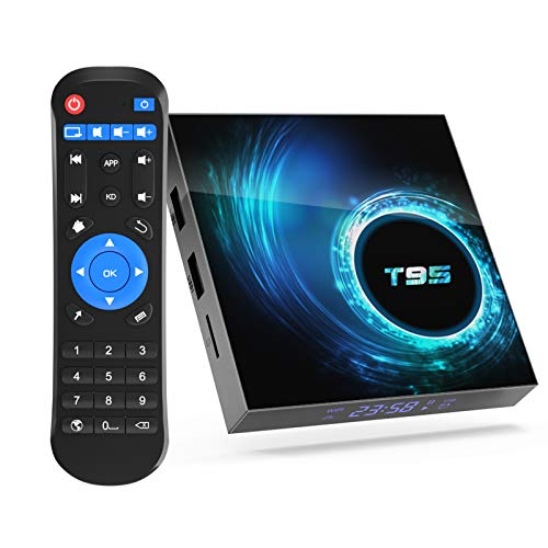 TV Box Android 10.0,Sidiwen T95 Android Box 4GB RAM / 64GB ROM Allwinner H616 Quad-Core Media Play 64bit,Soporte 2.4 / 5.0GHz Dual WiFi Ethernet / Ultra HD6K/3D/H.265/Bluetooth 5.0 Smart TV Box