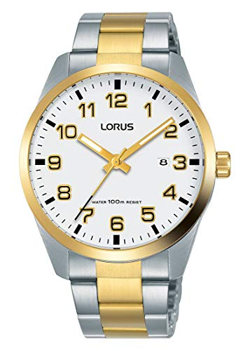Lorus Klassik Herren-Uhr Edelstahl mit Metallband RH972JX9