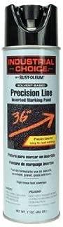 RUST-OLEUM 1675838 Industrial Choice 17-Ounce Black Precision Line Inverted Aerosol Marking Paint