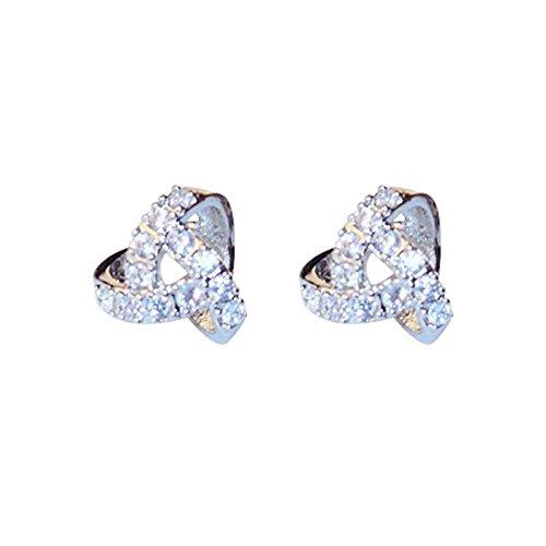 QIYUEQI Dreieckige Prisma 925 Kleine Wasser bohren Pearl Mädchen Sterling Silber Silber Schmuck Ohrringe ohr Nagel minimalistischen Persönlichkeit beliebte Ohren
